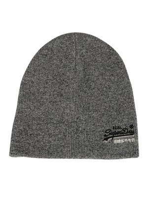 Superdry Orange Label Beanie - Basalt Grey Grit