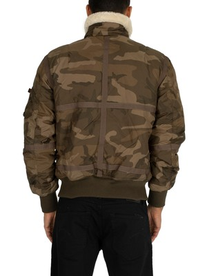Alpha Industries B15-3 Sherpa Jacket - Olive Camo