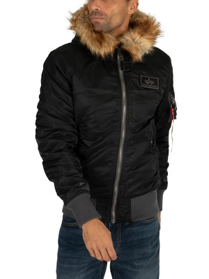 Alpha Industries MA-1 Hooded Parka Jacket - Black