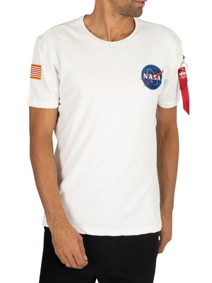 Alpha Industries NASA Heavy T-Shirt - White