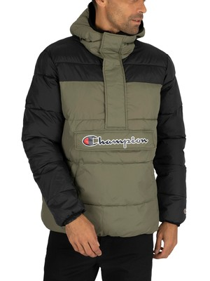 Champion Logo Puffer Jacket - Green