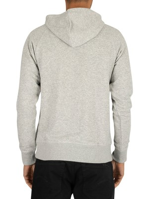 Gant Archive Pullover Hoodie - Light Grey Melange