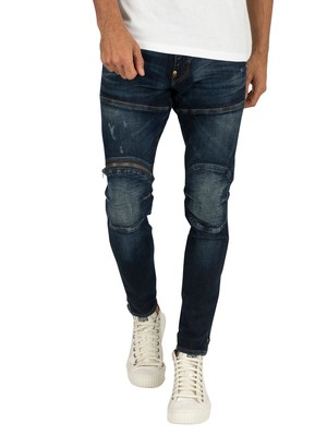 G-Star 5620 3D Zip Knee Skinny Jeans - Worn In Wave Destroyed