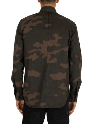 G-Star Lecite Straight Shirt - Combat/Fearn