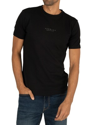 Hermano Chest Logo T-Shirt - Black