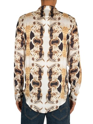 Hermano Jaguar Cuban Shirt - Black/Gold