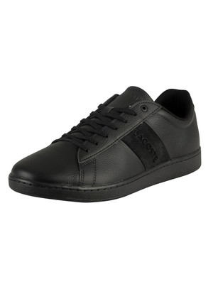 Lacoste Carnaby Evo 319 1 SMA Leather Trainers - Black