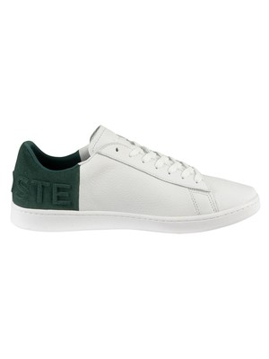Lacoste Carnaby Evo 419 2 SMA Leather Trainers - White/Dark Green