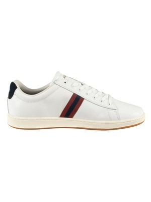Lacoste Carnaby Evo 419 3 SMA Leather Trainers - White/Navy/Red