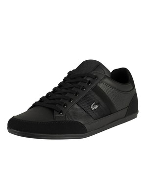 Lacoste Chaymon 419 1 CMA Leather Trainers - Black/Black