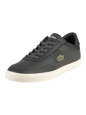 Lacoste Court-Master 319 1 CMA Leather Trainers - Dark Grey/Off White