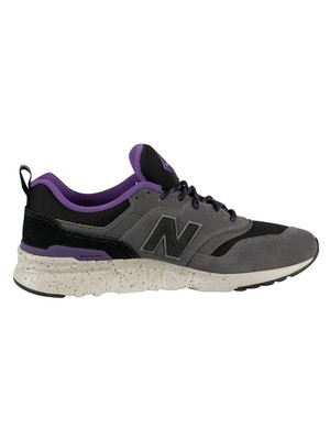 New Balance 997H Suede Trainers - Magnet/Prism Purple