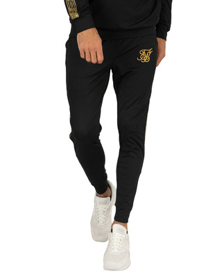 Sik Silk Gold Edit Cuffed Cropped Joggers - Black