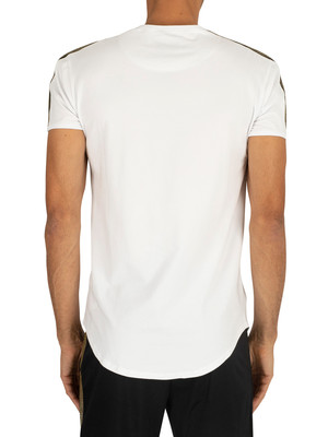 Sik Silk Gold Edit Runner Gym T-Shirt - White