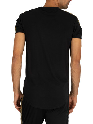 Sik Silk Gold Edit Runner Gym T-Shirt - Black