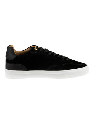 Sik Silk Phantom Suede Trainers - Black