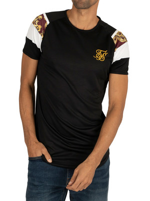 Sik Silk Royal Venetian Sprint T-Shirt - Black/Deep Red