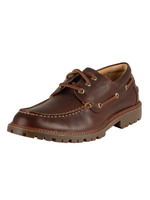 Sperry Top-Sider Gold A/0 Lug 3-Eye Leather Boat Shoes - Brown