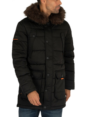 Superdry Chinook Parka Jacket - Jet Black
