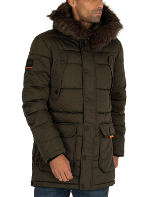 Superdry Chinook Parka Jacket - Khaki