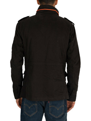 Superdry Classic Rookie 4 Pocket Jacket - Furnace Black