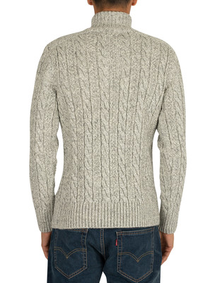 Superdry Jacob Henley Knit - Concrete Twist
