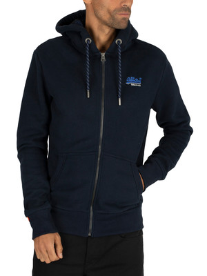 Superdry Winter Cali Zip Hoodie - Rich Navy