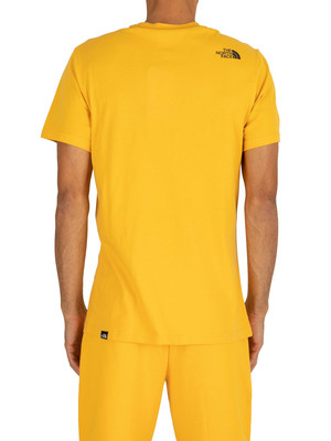 The North Face Fine T-Shirt - Yellow
