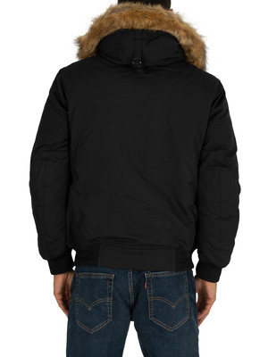 Tommy Hilfiger Hampton Down Bomber Jacket - Jet Black