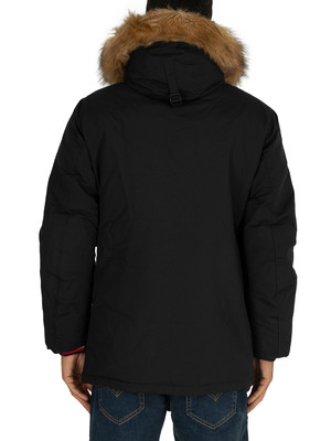 Tommy Hilfiger Hampton Down Parka Jacket - Jet Black