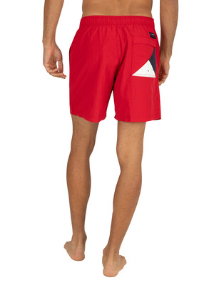 Tommy Hilfiger Medium Drawstring Swim Shorts - Tango Red