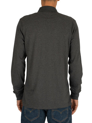 Tommy Hilfiger Regular Longsleeved Polo Shirt - Charcoal Heather