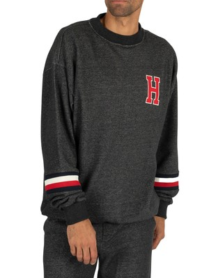 Tommy Hilfiger Track Sweatshirt - Dark Grey Heather