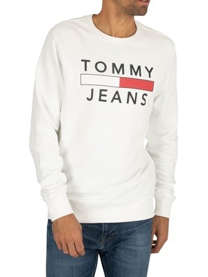 Tommy Jeans Essential Graphic Sweatshirt - Classic White