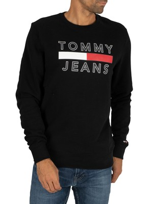 Tommy Jeans Essential Graphic Sweatshirt - Black