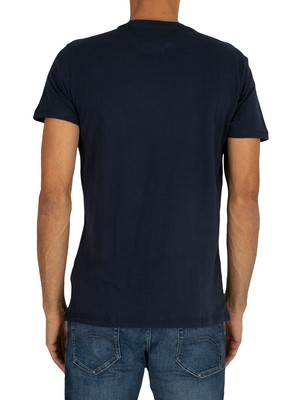 Tommy Jeans Essential Logo T-Shirt - Black Iris Navy