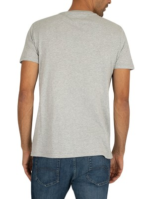 Tommy Jeans Essential Logo T-Shirt - Light Grey Heather
