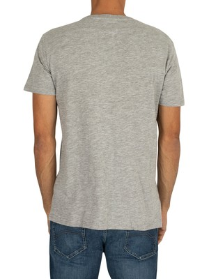 Tommy Jeans Essential Panel T-Shirt - Light Grey Heather
