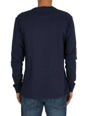 Tommy Jeans Longsleeved T-Shirt - Black Iris Navy