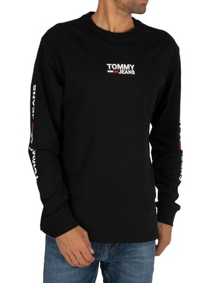 Tommy Jeans Longsleeved T-Shirt - Black