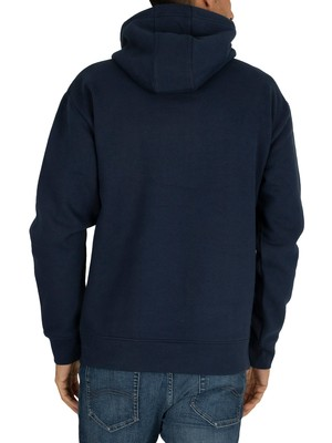 Tommy Jeans Reflective Flag Hoodie - Black Iris Navy