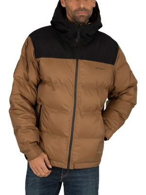 Carhartt WIP Larsen Jacket - Hamilton Brown/Black