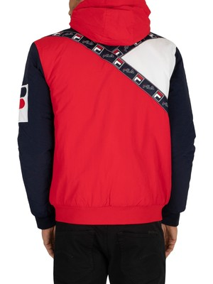 Fila Tech Jacket - Chinese Red/Peacoat/White