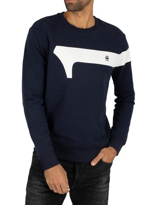 G-Star Graphic Sweatshirt - Sartho Blue