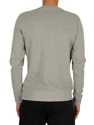 Jack & Jones Snowflake Penguin Sweatshirt - Light Grey Melange