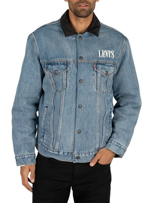 Levi's Padded Trucker Jacket - Surprise reversible