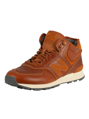 New Balance 574 Mid Leather Trainers - Canyon
