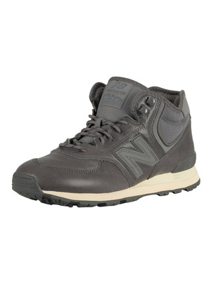 New Balance 574 Mid Leather Trainers - Grey