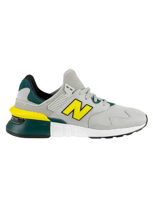 New Balance 997 Sport Trainers - Light Aluminium/Sulphur Yellow