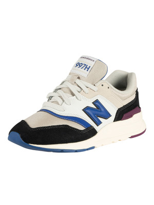 New Balance 997H Leather Trainer - Moonbeam/Black